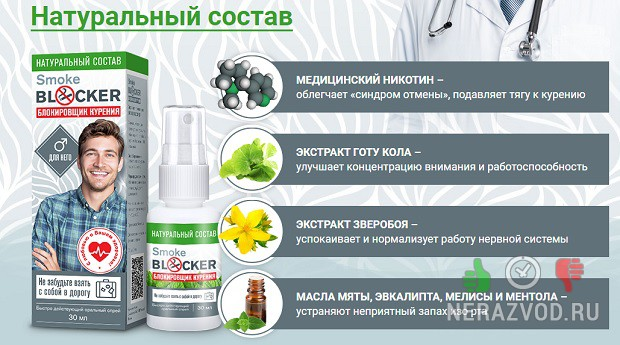 Smoke Blocker - спрей блокатор тяги к курению
